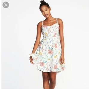Old Navy Floral Fit & Flare Dress XS